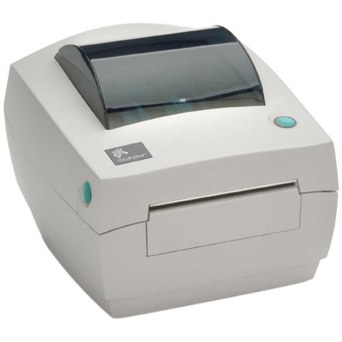 "Zebra GC420D 203 dpi Desktop Direct Thermal Label Printer 4""/Ethernet/Dispenser"