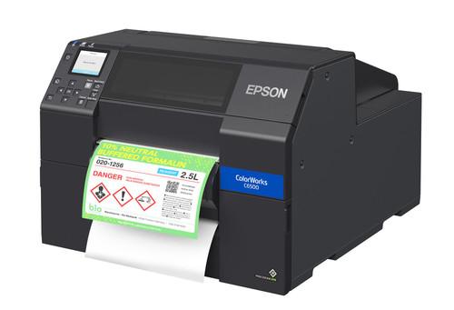 "Epson C6500P 8"" Gloss Color Label Printer Peeler C31CH77A9971"