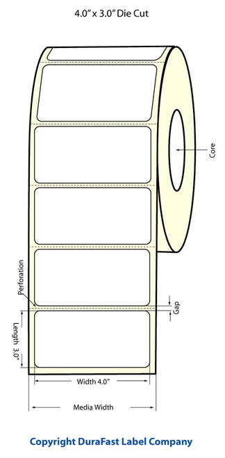 LX900 4 x 3 Inkjet Matte Paper Labels 800/Roll  - 74974