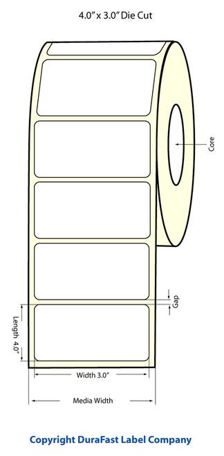 "LX900 4"" x 3"" Inkjet NP Matte Paper Label 800/Roll  - 932007"