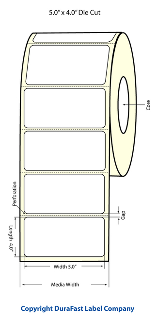 "LX900 5"" x 4"" Inkjet Matte Paper Labels 600/Roll  - 74976"