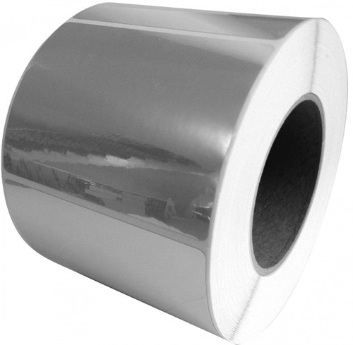 "LX900 4"" x 2"" Inkjet Silver Polyester Label 1200/Roll  - 937004"