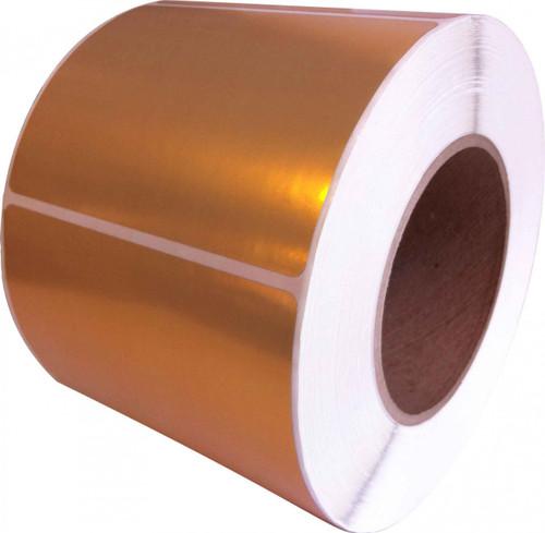 "LX900 4"" x 2"" Inkjet Gold Polyester Label 1200/Roll  - 938004"