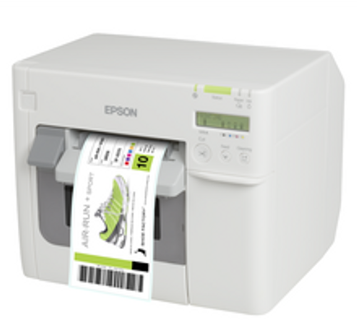 Quickly customize and print durable color labels in-house with the Epson TM-C3500 Inkjet Label Printer (C31CD54A9991)