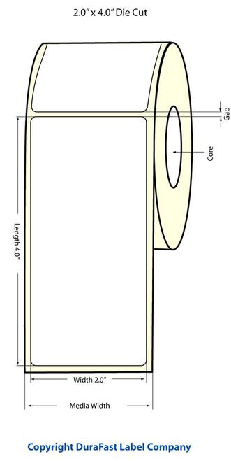 "LX900 2"" x 4"" Inkjet NP (Matrix ON) Glossy BOPP Labels 620/Roll  - 934020"