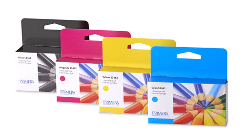 Primera 53465 Multi Pack Pigment Ink Cartridge for LX2000 GHS Label Printer