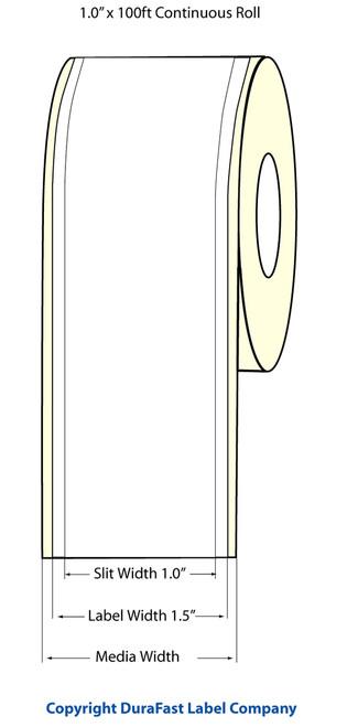 """TM-C3500 1"""" x 100ft Inkjet High Gloss Paper Label Roll  - 811033"""