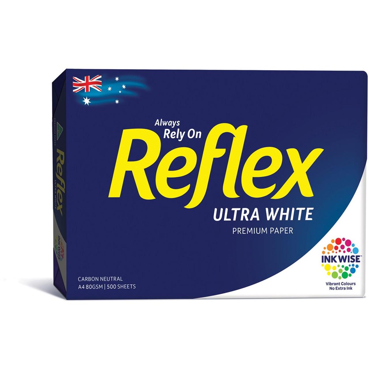 Reflex Pure White A4 80gsm Copy Paper 5 Reams 1 Carton 5 29 Including Gst Per Ream Nuprint Office Choice