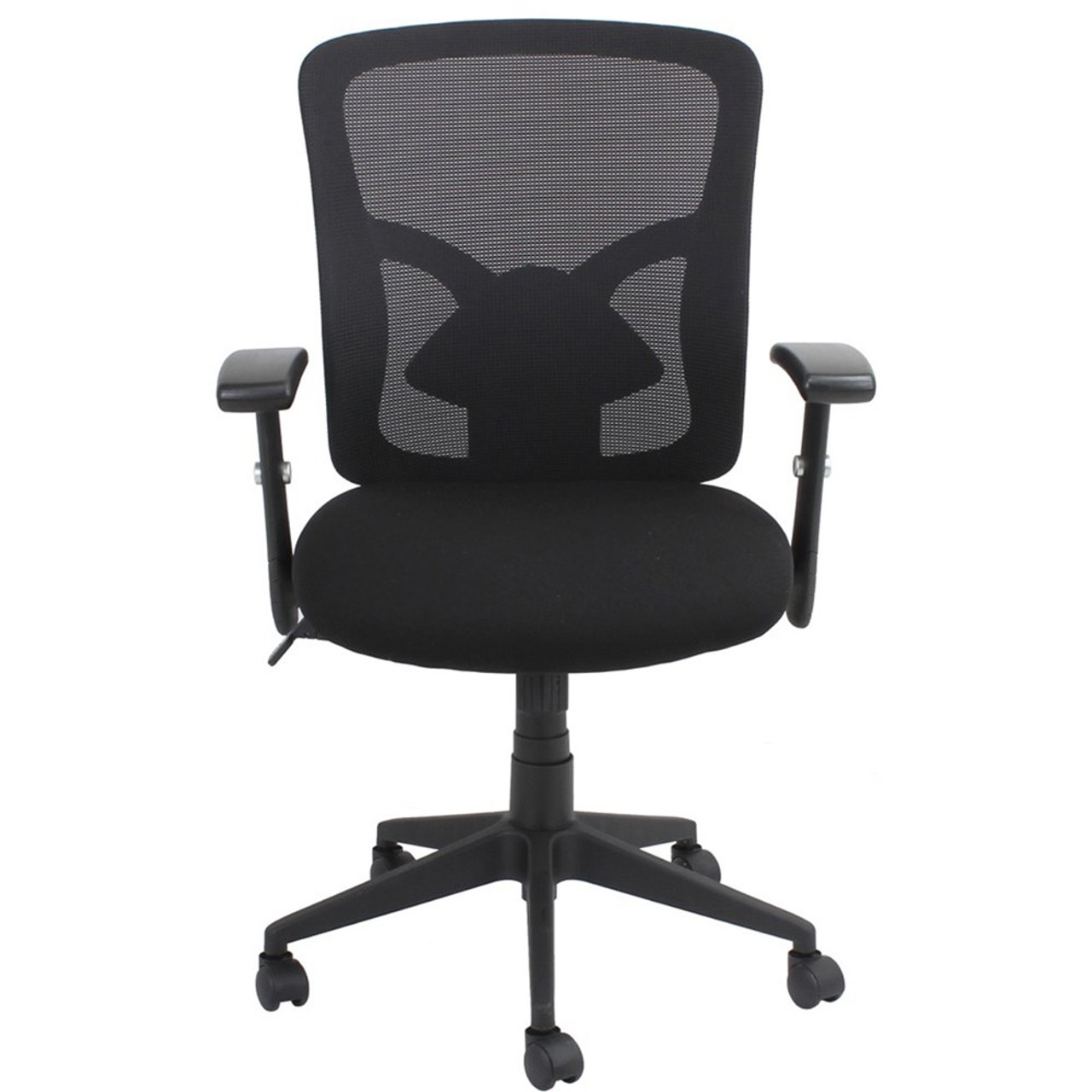 Fluent Mesh Back Office Chair Black Fabric Seat Synchron Adjustable Arms Back Height