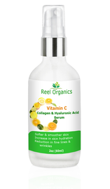 Hyaluronic Acid + Vitamin C + Collagen Facial Serum | Anti-aging, Anti-wrinkle, Toning Serum