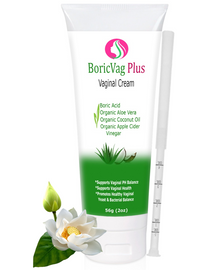 Boric Acid Cream with Organic Aloe Vera, Apple Cider Vinegar and Coconut Oil | 2 oz | Effective, Safe & Fast Action