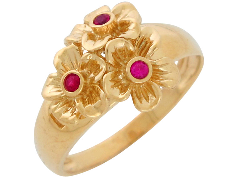 Bold Accented Ladies Gorgeous Flower Floral Ring (JL#10859)