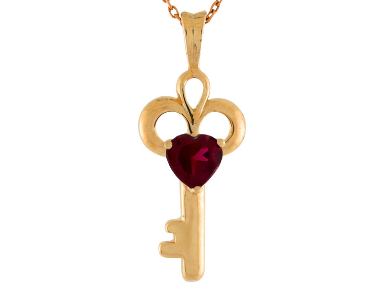 Birthstone Key Pendant (JL#9847)