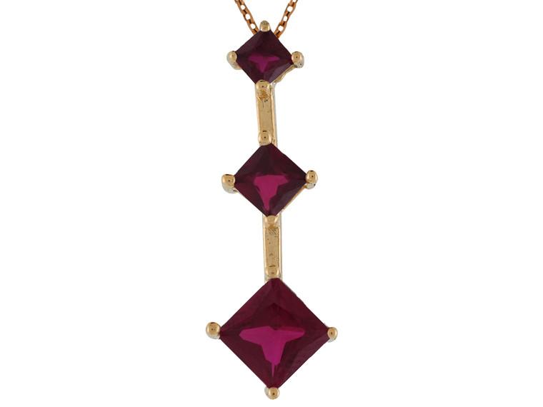 Ladies Dangling Birthstone Pendant (JL#9849)