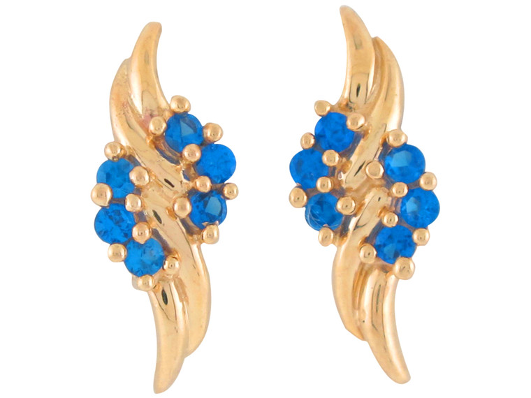Real Cluster Ladies Gorgeous Floral Post Earrings (JL#10814)