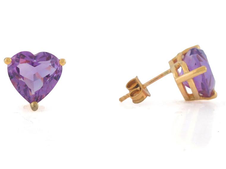 Heart Shaped Natural Set Stud Post Earrings (JL#10817)