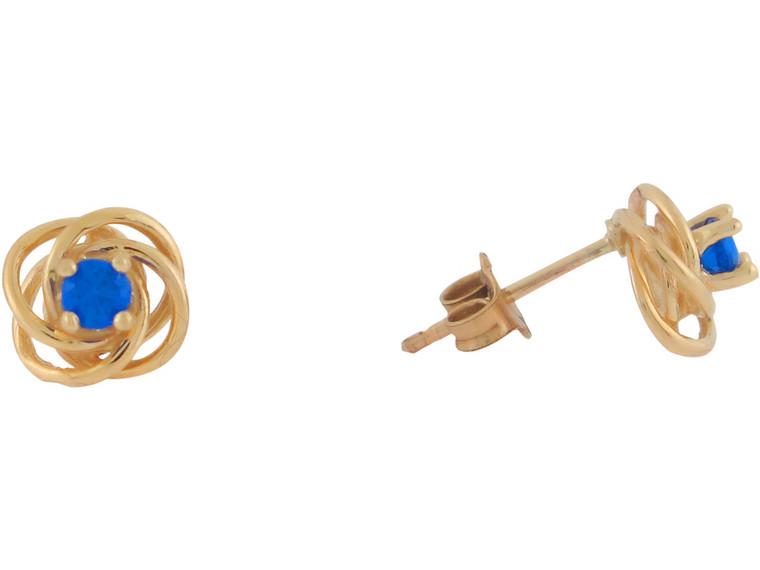 Real Set Ladies Celtic Knot Post Earrings (JL#10818)