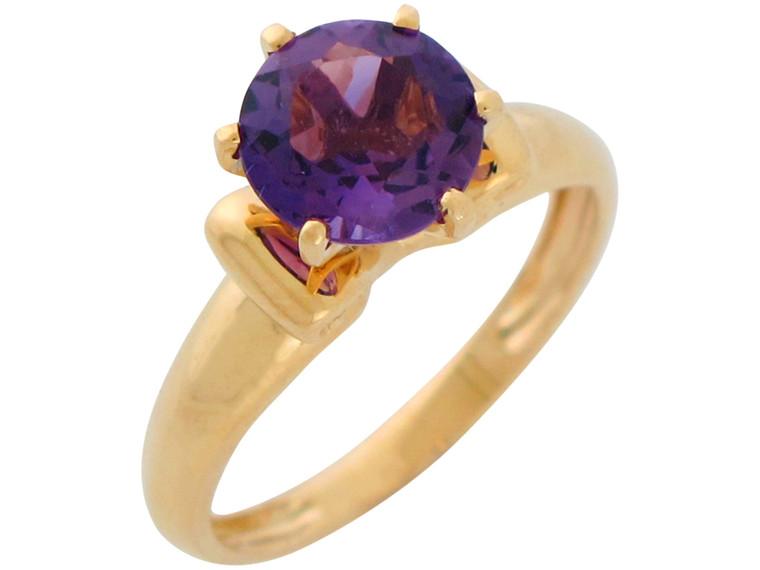 Natural Accented Ladies Simple Elegant Solitaire Ring (JL#10871)