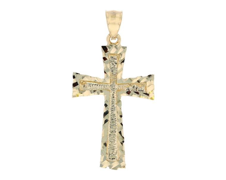 Stunning Finish Diamond Cut Latin Cross Pendant (JL#11749)