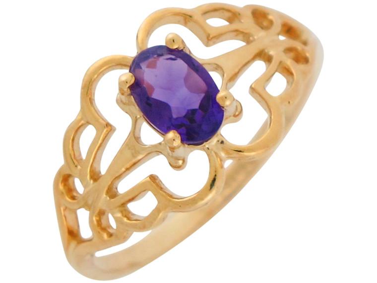 Natural Accented Ladies Filigree Pattern Ring (JL#10884)