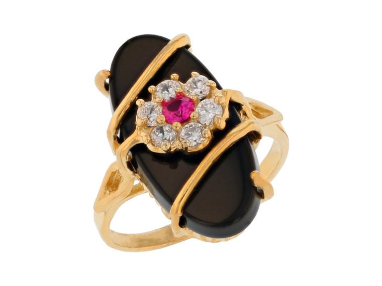 Ladies Elegant and Brilliant CZ Flower Ring (JL#11732)