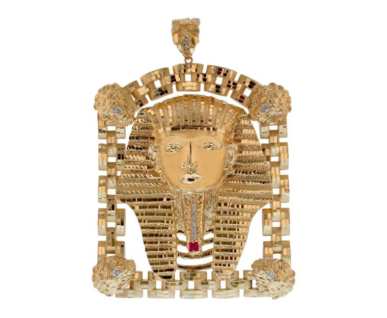 Large Egyptian Pharaoh Heavy Frame Pendant (JL#11583)
