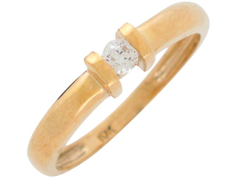Ladies Stunning Modern Solitaire Band Ring (JL# R10956)