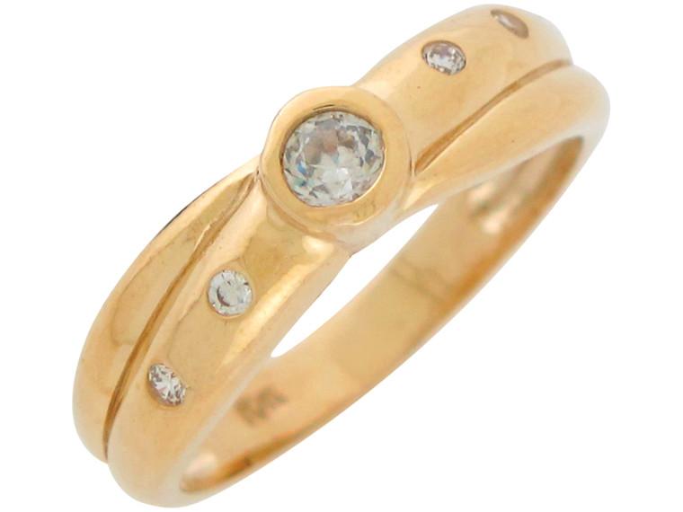 Ladies Shimmering Flush and Bezel Set Band Ring (JL#10963)