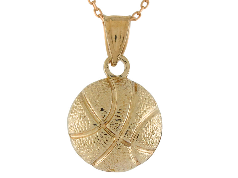 Classic Sports Basketball Design Pendant (JL#10750)