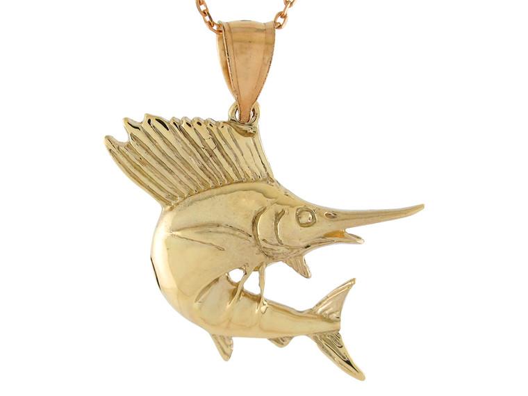 High Polish Sea Life Fishing Sword Fish Design Pendant (JL#10757)