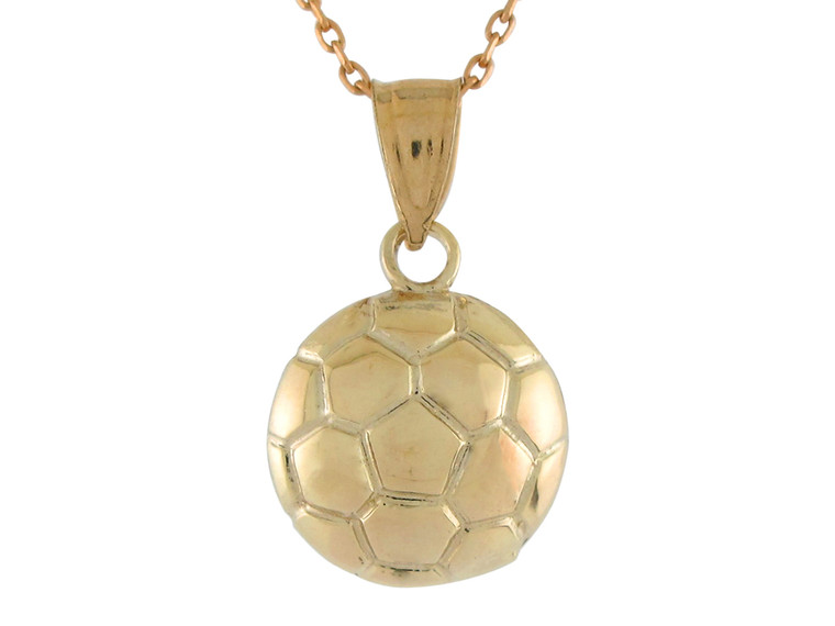 Petite Small High Polish Sports Soccer Futbol Ball Pendant (JL#10764)