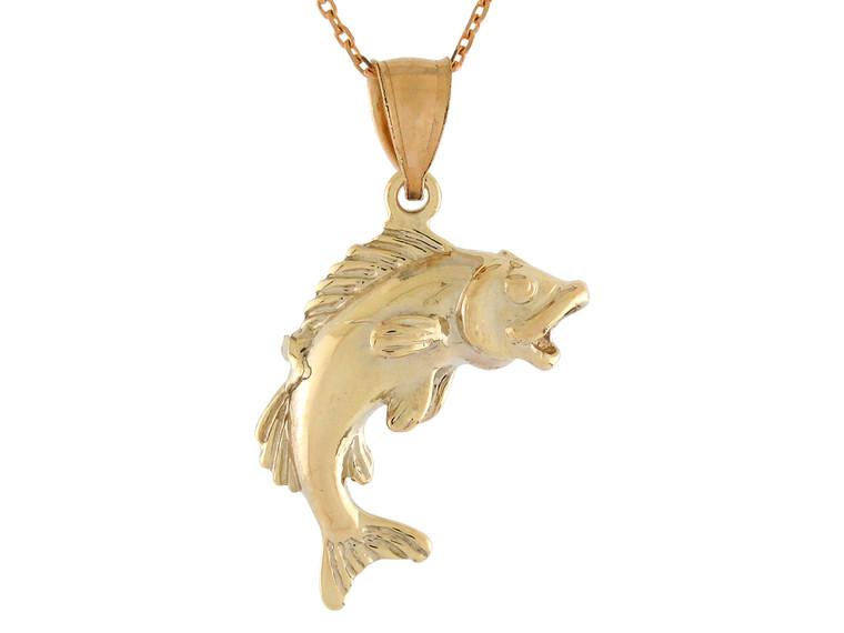 High Polish Sea Life Fishing Classic Open Mouth Fish Design (JL#10772)