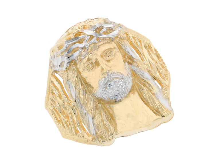 Stunning Filigree Design Jesus Head Mens Ring (JL#11683)