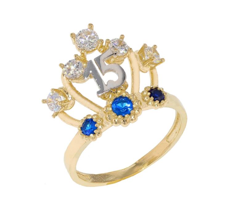 15 Años Quinceañera Crown Ring (JL#11975)