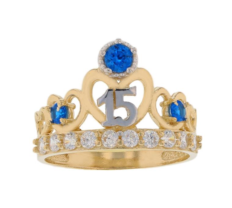 15 Años Quinceañera Heart Crown Ring (JL#11976)