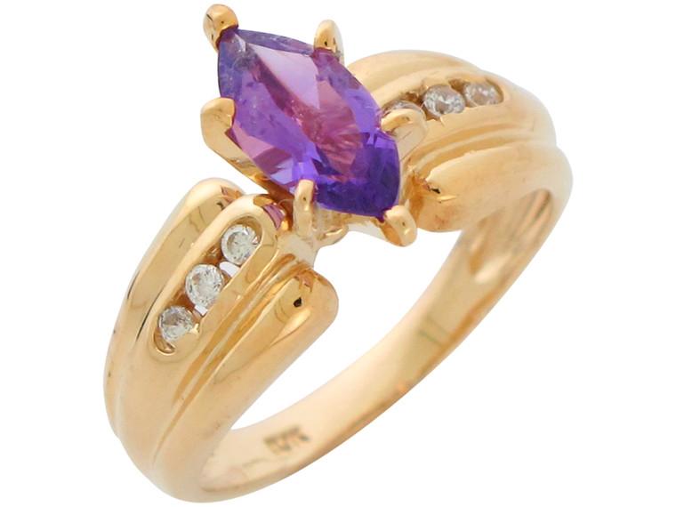 Natural and Diamond Ladies Elegant Wide Ring (JL# R10889)