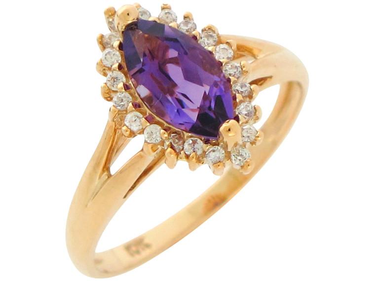 Natural White Topaz Ladies Elegant Halo Ring (JL# R10890)
