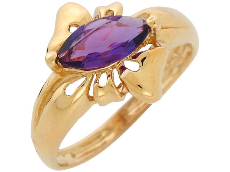 Natural Ladies Elegant Classy Bow Design Ring (JL# R10895)
