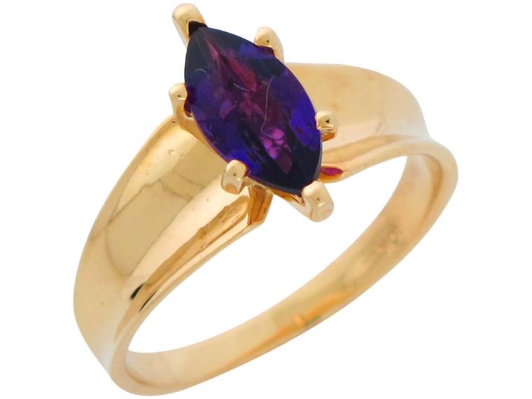 Natural Ladies Elegant Classic Wide Top Ring (JL# R10896)