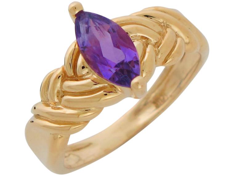 Natural Ladies Elegant Knot Twist Design Ring (JL# R10898)