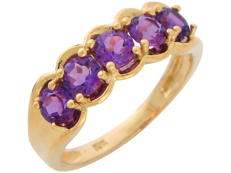 Natural Ladies Five Stone Anniversary Ring (JL# R10902)