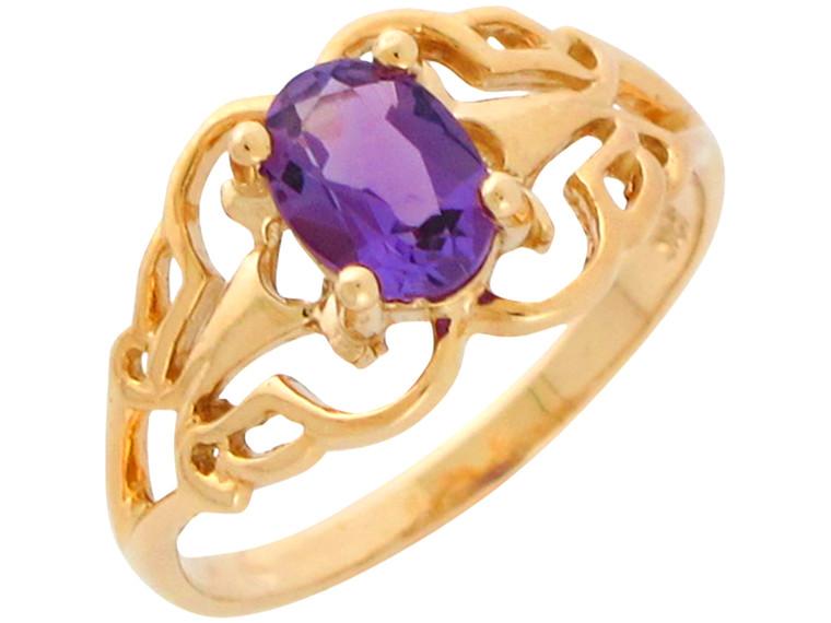 Bold Natural Ladies Unique Filigree Pattern Ring (JL#10917)
