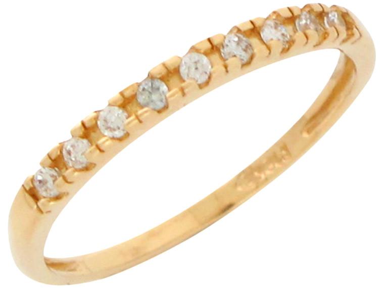 Genuine Diamond Accented Ladies Thin Band Ring (JL#10906)