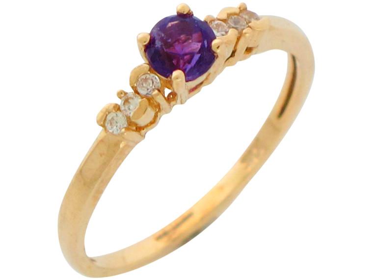 Ladies Fancy Genuine and Diamond Thin Band Ring (JL# R10939)