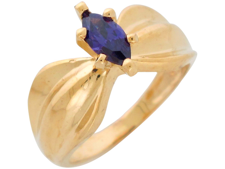 Magnificent Natural Set Fancy Wide Band Bow Ring (JL#10944)