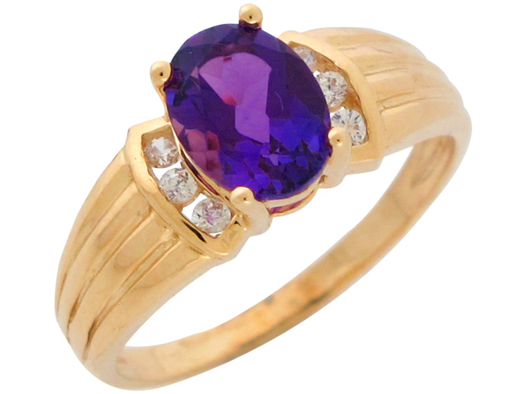 Natural and Diamond Accented Ladies Elegant Ring (JL#10948)