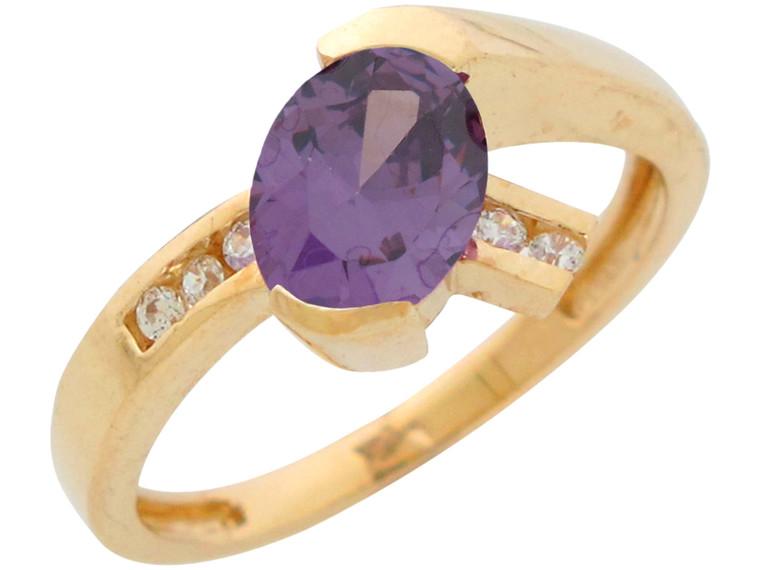 Ladies Natural Gemstone and Diamond Modern Contemporary Ring (JL#10950)