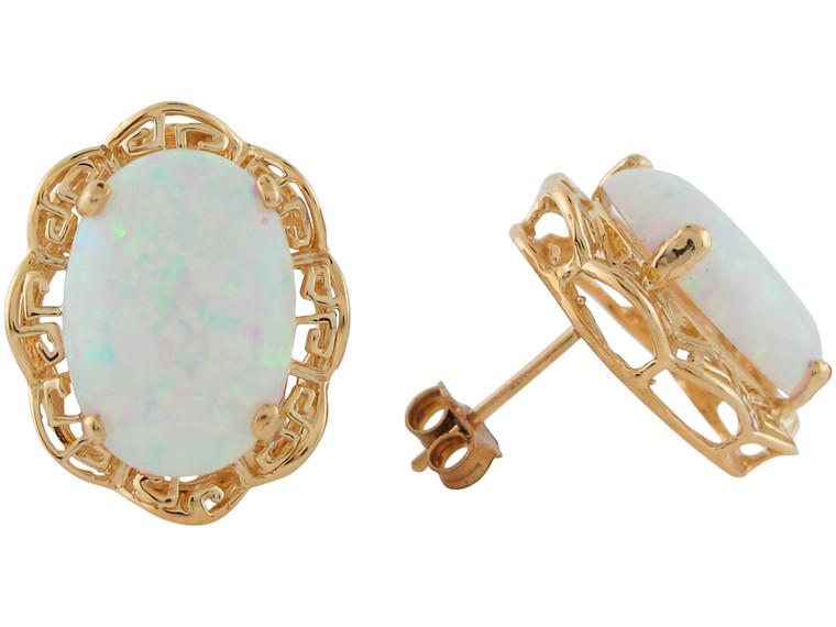 Simulated October Birthstone Earrings (JL#10925)