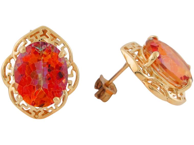 Stunning Ladies Greek Key Design Earrings (JL#10936)