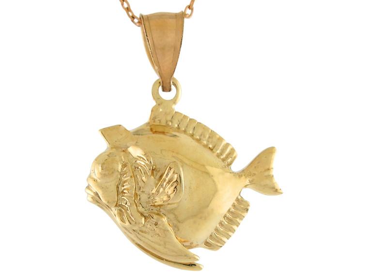 High Polish Sea Life Fishing Unique Fish Design Pendant (JL# P10733)